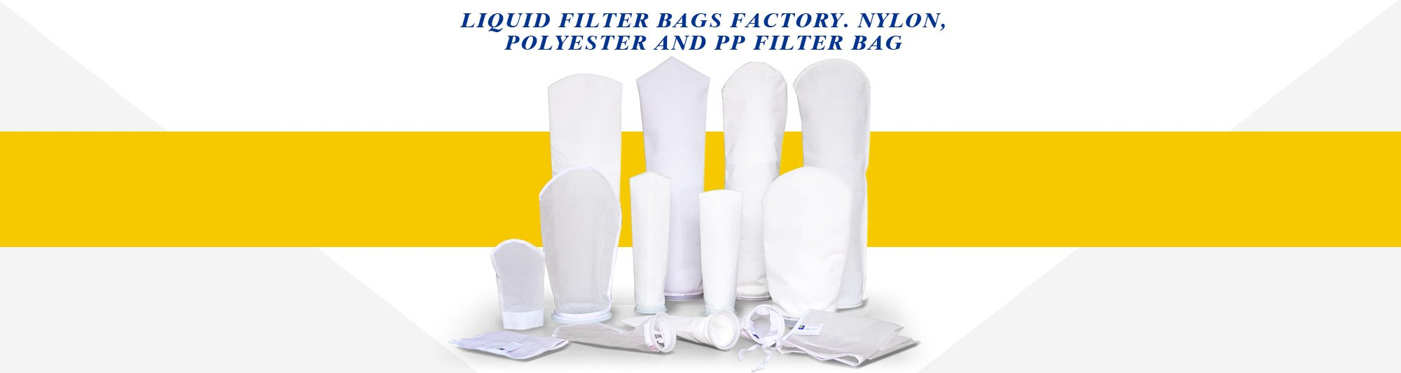 liquid filter bags factory. Nylon, Polyester and PP filter bag