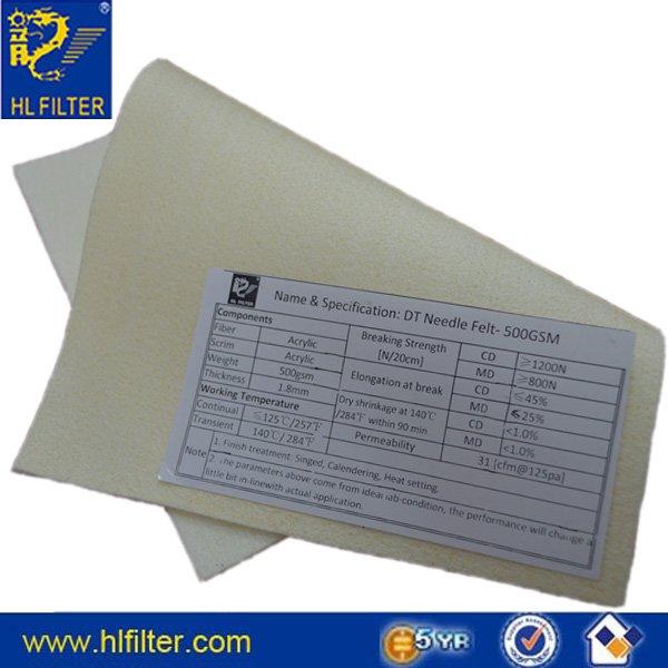 Acrylic needle felts - Buy Acrylic dust filter cloth